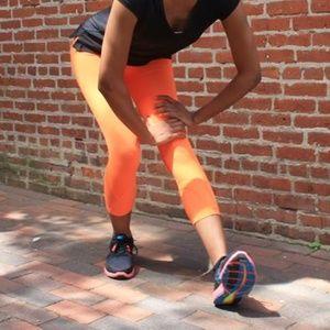 [Lululemon] Run Inspire Crop in Pizazz Orange #U13